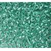 Seedbead 2/0 Crystal Green Lined Metallic Dyed